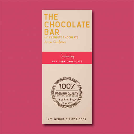 Absolute Cranberry 54% Dark Chocolate – 100g