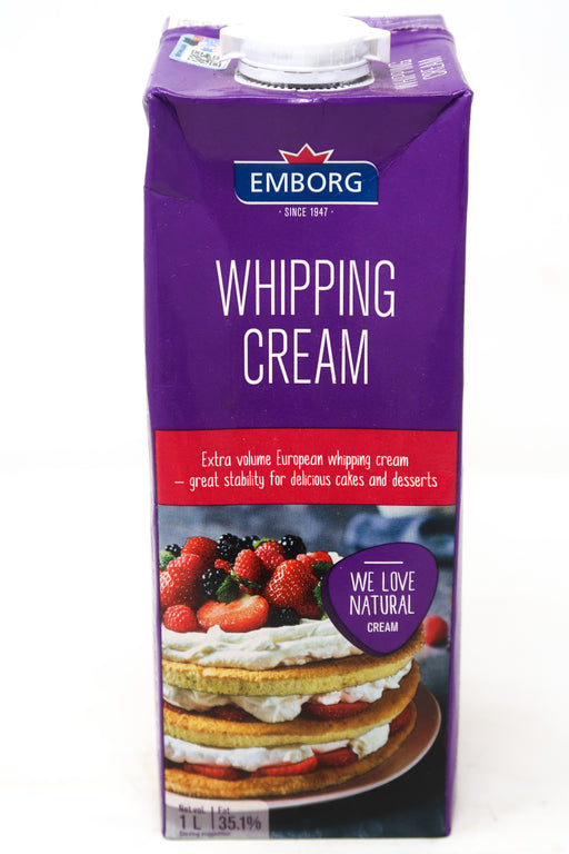 Emborg Whipping   Cream - Zucchini Greengrocers LTD