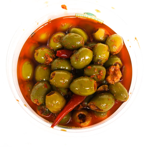 Medri's Olives - Hot spicy - Zucchini Greengrocers LTD