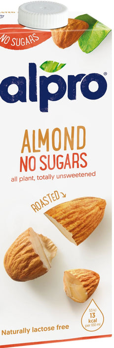 Alpro almond drink unsweetened 1L.