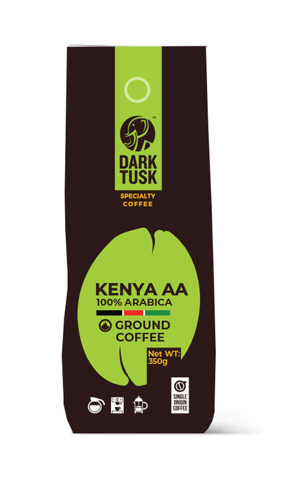 100% Arabica Dark Task Kenya AA Ground Coffee 350g