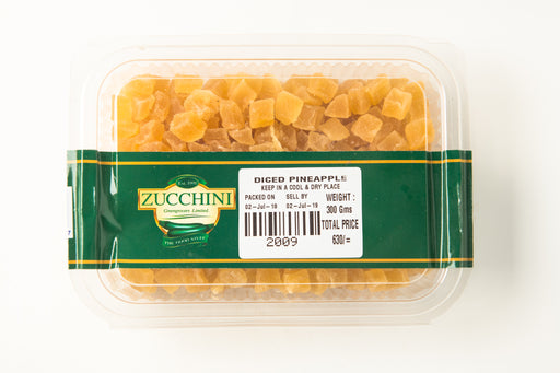 Dry Pineapple - Diced - Zucchini Greengrocers LTD