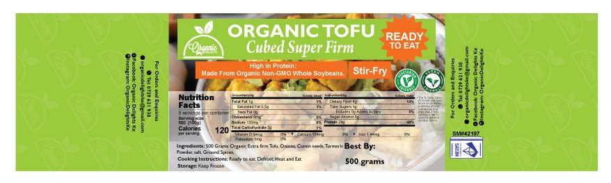 Organic Delights TOFU stir fry ( ready to eat)