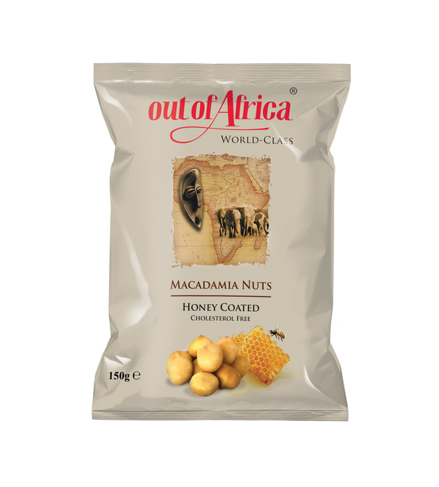 Out of Africa Macadamia Nuts (Honey Coated) - Cholesterol Free