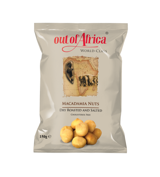 Out of Africa Macadamia Nuts (Dry Roasted and Salted) - Cholesterol Free