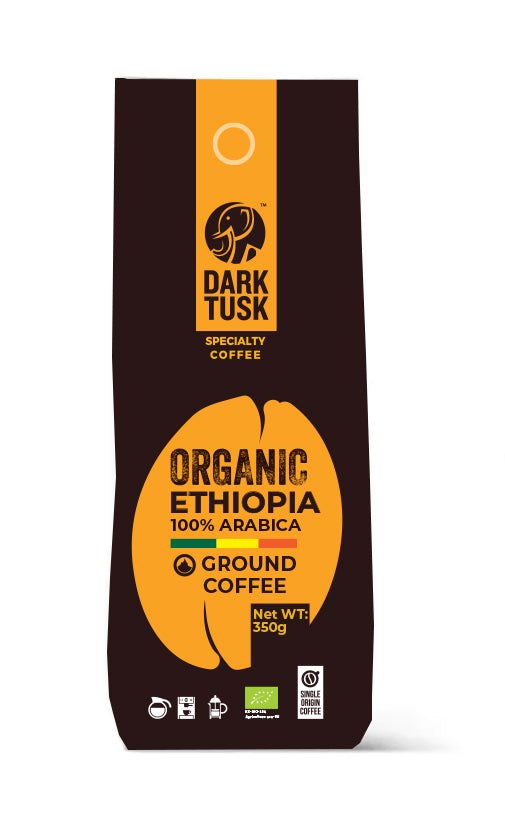 Dark Tusk Organic Ground Bean Coffee - Ethiopia 350g