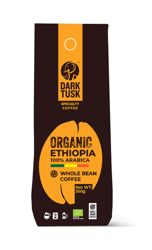 Dark Tusk Organic Ethiopia Whole Bean Coffee 350g
