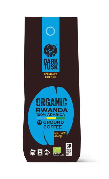 Dark Tusk Organic Ground Coffee - Rwanda 350g
