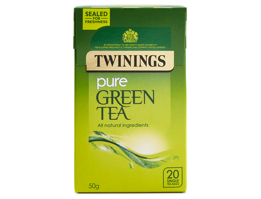 Twinings Pure Green Tea 50g - 20 Single Tea Bags