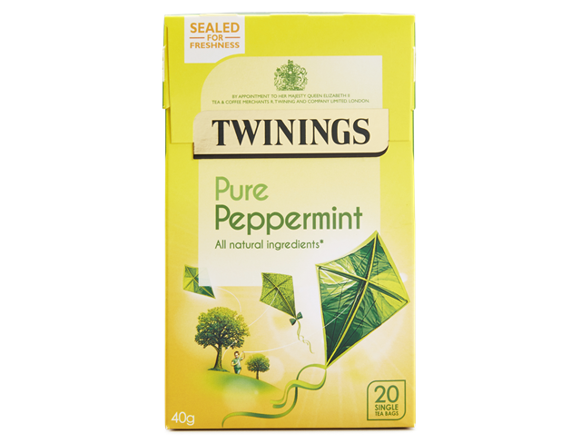 Twinings Pure Peppermint 40g - 20 Single Tea Bags