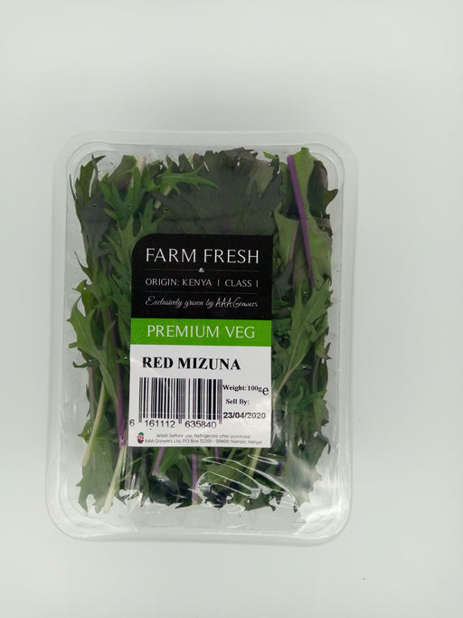 Farm Fresh Premium veg Red Mizuna 100g