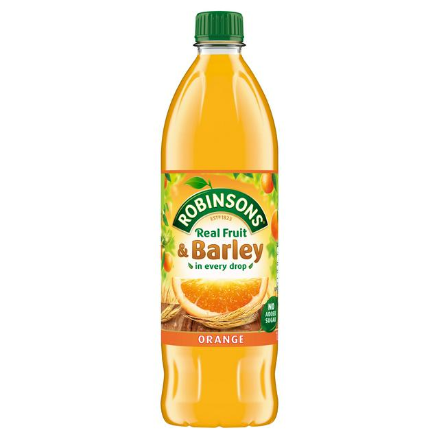 Robinsons Fruit & Barley Orange Squash No Added Sugar 1L