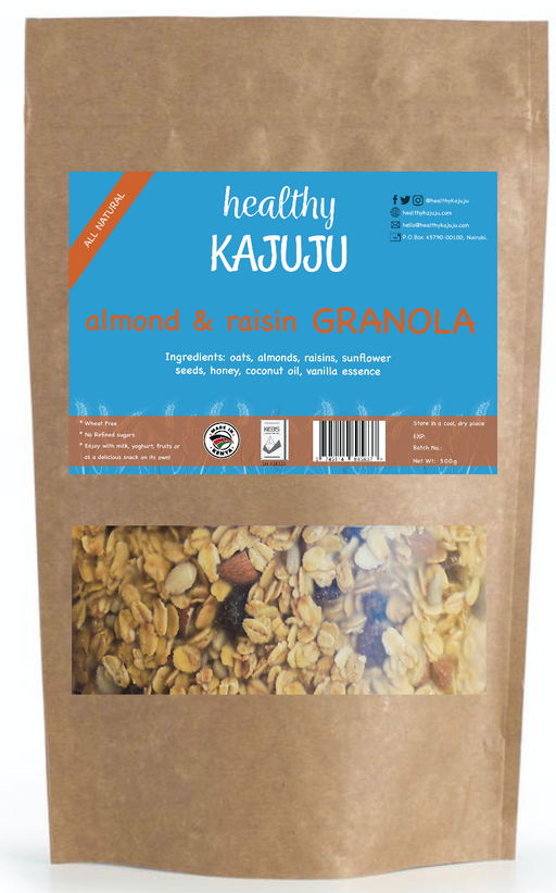 Kajuju Almond & Raisin Granola 500g