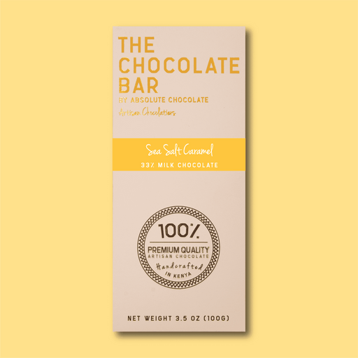 Absolute Sea Salt Caramel – 33% Milk Chocolate 100g