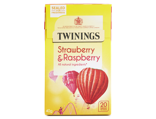 Twinings Strawberry & Raspberry 40g - 20 Single Tea Bags