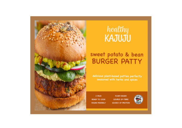 Healthy Kajuju Sweet Potato & Bean Burger Patty 260g