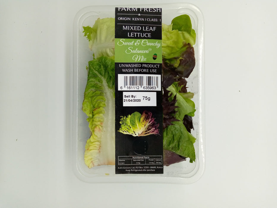 Farm Fresh Mixed Leaf Lettuce (Sweet Salanova Mix )150g