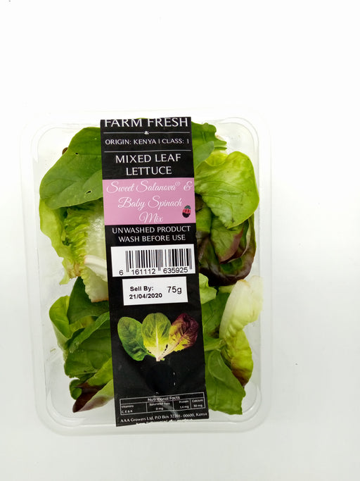 Farm Fresh Mixed Leaf Lettuce ( Sweet Salanova & Baby Spinach Mix) 150g