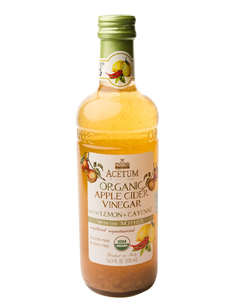 Acetum Organic Cider Vinegar with Mother - Lemon & Cayenne 500ml