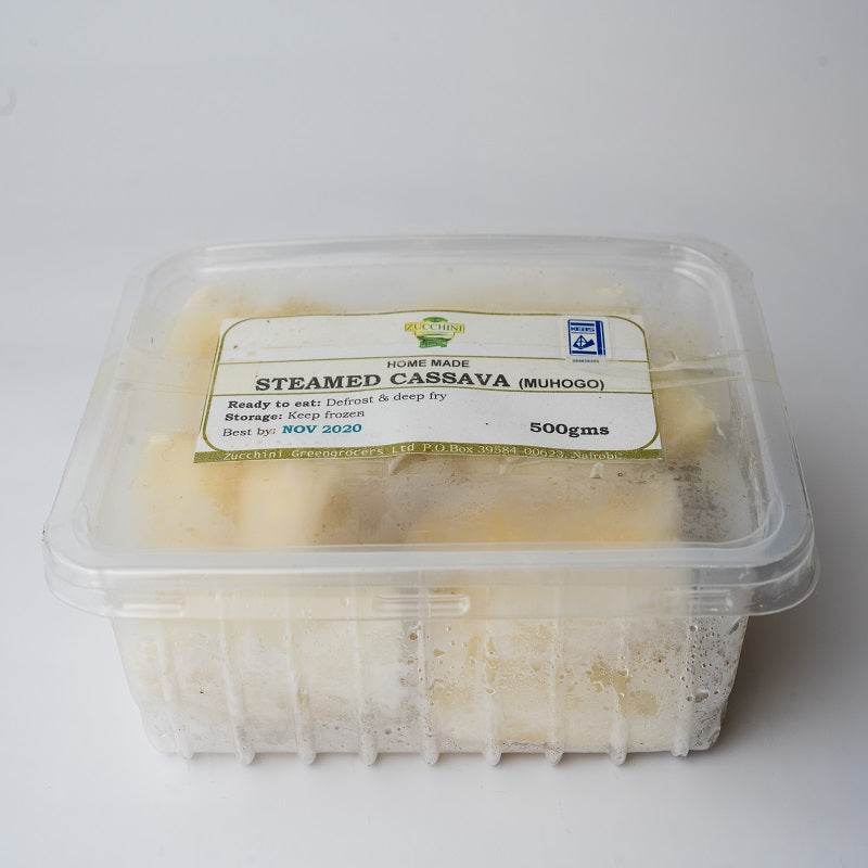 Homemade Steamed Cassava ( Muhogo)- 500g