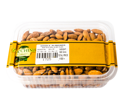Zucchini Whole Almonds 500g