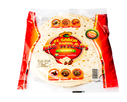 El Sabor Tortilla Wraps Original 20cm - 8 Tortillas