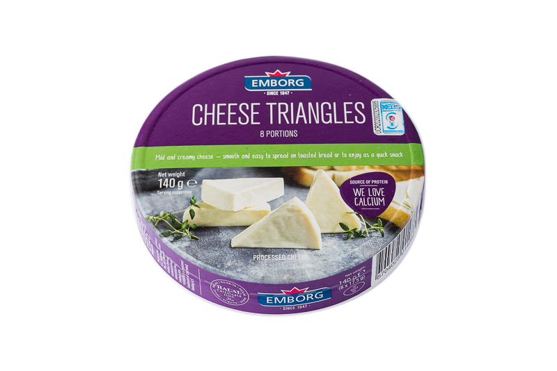 Emborg Cheese Portions Triangles - 8 Portions 140g
