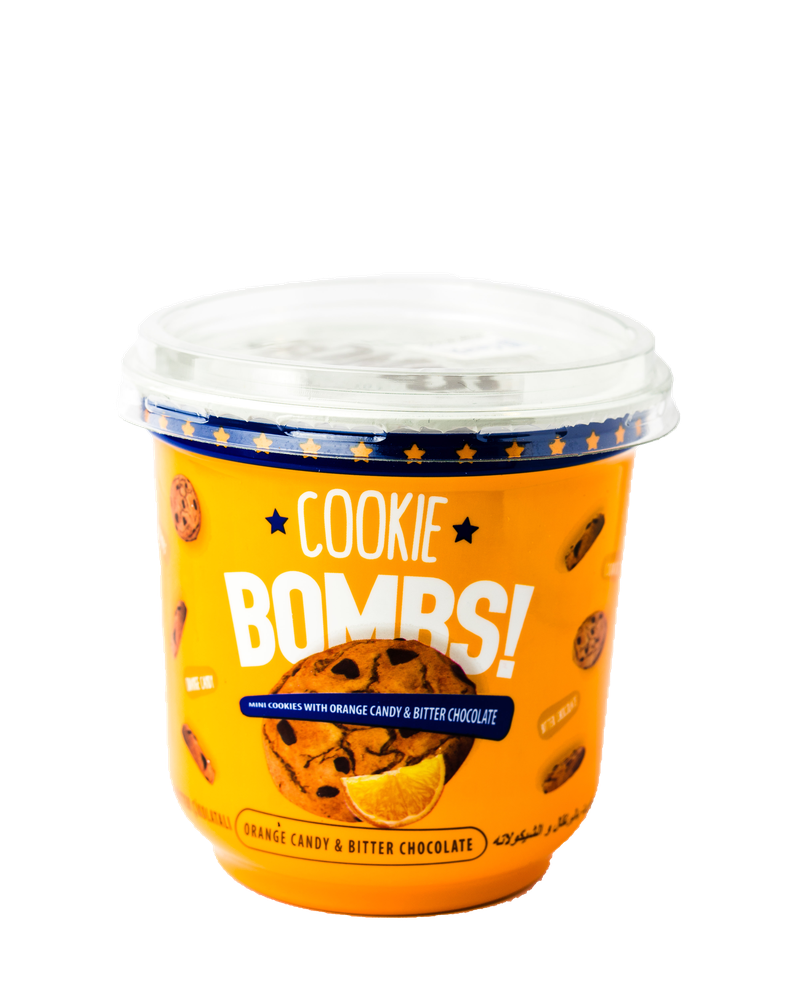 Cookie Bombs ( Mini Cookies with orange candy & Bitter chocolate) 80g
