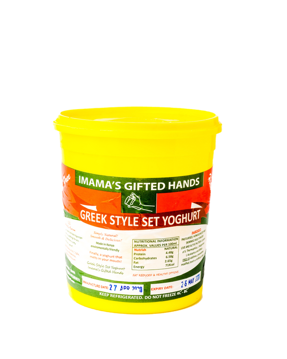 Imama's gifted hands Greek style set natural Yoghurt 500ml (Sugar FREE)