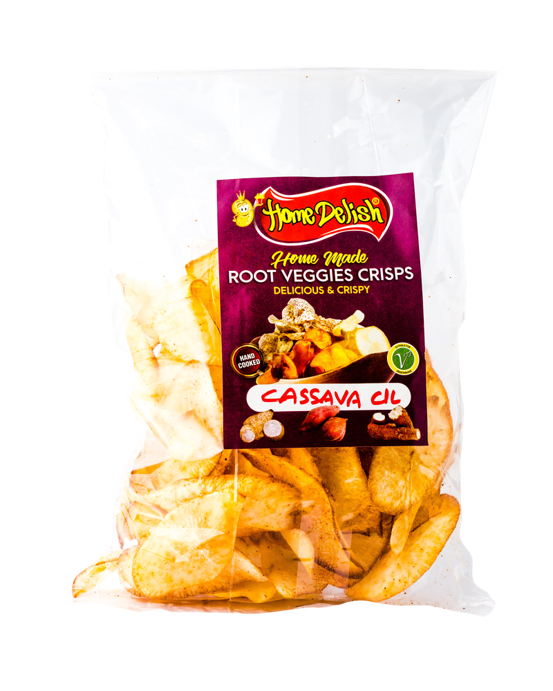 Home Delish homemade Root Veggies Crisps 150g- Cassava