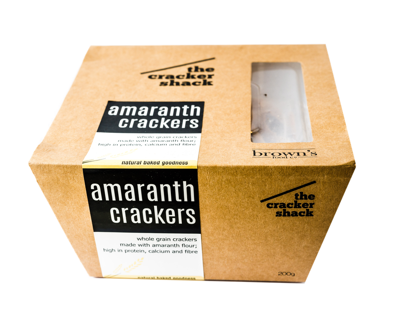 Brown's Amaranth Crackers 200g