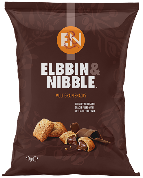 Elbbin & Nibble Multigrain Snacks filled with Rich Milk Chocolate