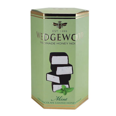 Wedgewood Mint Dark Chocolate Coated Honey Nougat 140g.