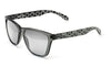 Bright grey silver alien sunglasses by emoji®