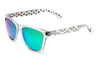 Bright white green alien sunglasses by emoji®