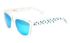 Bright blue dancer blue sunglasses by emoji®