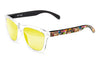 White - rubber black - yellow polarized sunglasses by emoji®