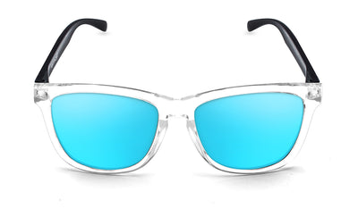 Black grey faces ice blue sunglasses by emoji®