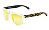 Black yellow faces yellow sunglasses by emoji®