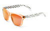 Bright orange alien sunglasses by emoji®