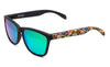 Black total green sunglasses by emoji®