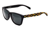 Yellow Smiles Black sunglasses by emoji®
