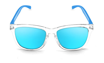 Bright white - ice blue poop sunglasses by emoji®