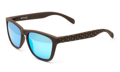 Chocolate poop ice blue sunglasses by emoji®