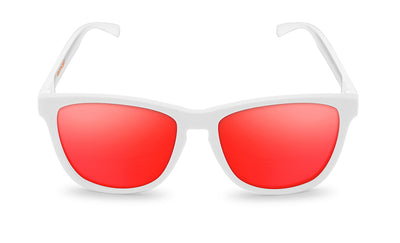 White dancer red sunglasses by emoji®