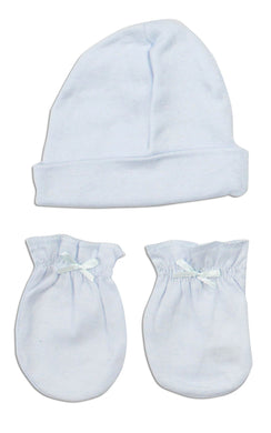 Boys' Cap and Mittens 2 Piece Layette Set