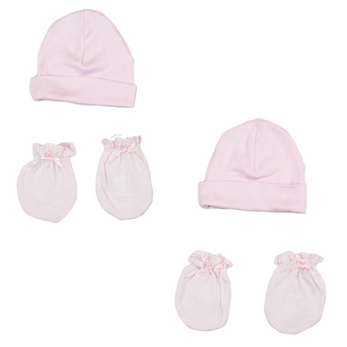 Girls' Cap and Mittens 4 Piece Layette Set