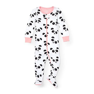 The Children's Place Baby Little Boys' Panda Stretchie Pajamas, White 91119, 2T