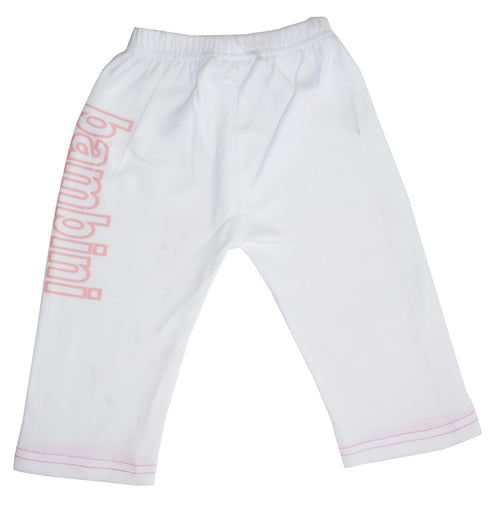 Girls White Pants with Wording