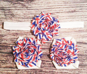 4th of July Headband Set / 4th of July Barefoot